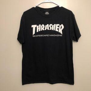 Thrasher skateboard magazine graphic t shirt black